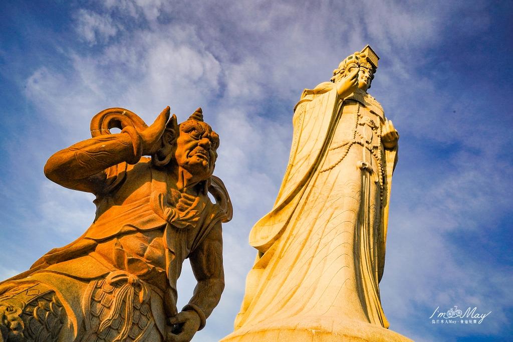 馬祖、南竿 | 世界第一高媽祖神像「媽祖巨神像」,居然有拍攝IG網美照的夢幻角度 | Plus 私房攝影地點、覓境E19蒙古包無敵海景絕美夕陽、馬祖港邊夢幻晚霞 @偽日本人May.食遊玩樂