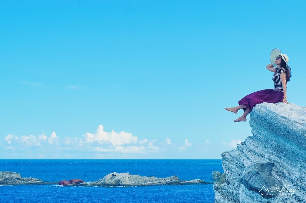 花蓮、豐濱 | 世界級戶外地質景觀教室、東部海岸線絕美風景「石梯坪遊憩風景區」| 免門票景點、探索潮間帶、石梯坪單面山、台11線海風景 @偽日本人May.食遊玩樂