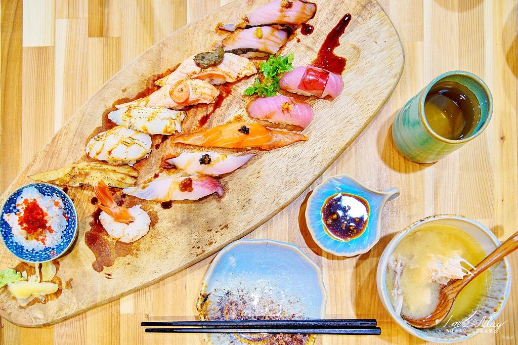 台北、松山 | 漁港直達的平價日本料理「THE · 春日式料理餐廳」| 超人氣15貫鮮料滿滿握壽司、高CP值海鮮丼飯 @偽日本人May.食遊玩樂