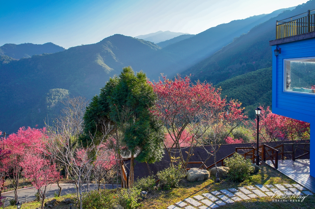 浪漫粉櫻包圍的豪華旅宿、專屬私人管家貼心服務「悅峰山莊」| 客製化行程餐點、和平部落在地體驗 @偽日本人May.食遊玩樂