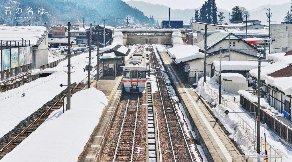 岐阜 |《君の名は》你的名字聖地巡禮 x 飛騨古川車站。三葉,我來找妳了!(電影名畫面取景指南+列車停靠最佳拍攝時間+交通方式) @偽日本人May.食遊玩樂