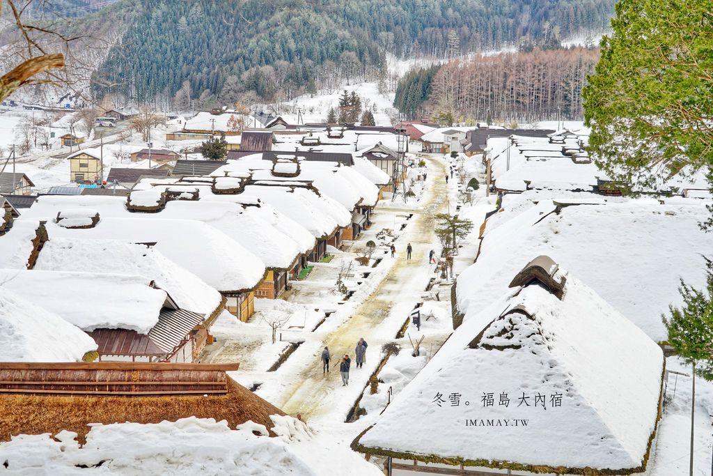 福島冬季旅行提案 | 想要置身在浪漫雪白的童話故事場景,就來大內宿吧 (日本三大茅葺聚落) @偽日本人May.食遊玩樂