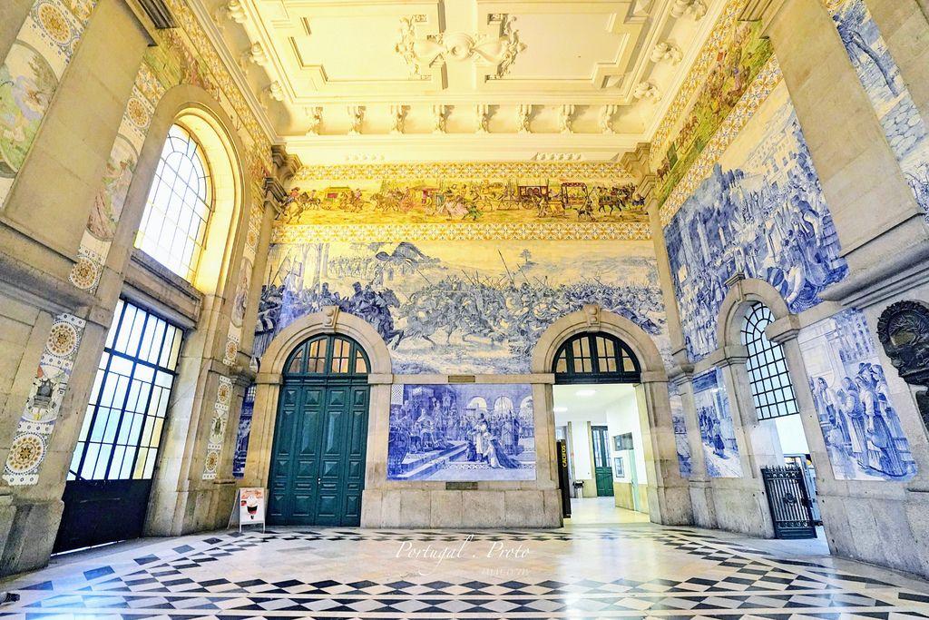 葡萄牙、波多 | 兩萬片藍彩瓷磚拼貼而成、全世界最美的車站之一「聖本篤車站 Sao Bento Railway Station」 @偽日本人May.食遊玩樂