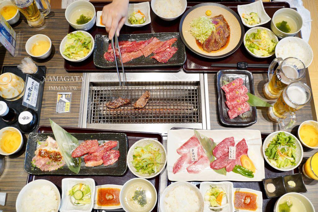 山形 | 午餐就吃山形牛定食吧 ! 只要日幣1500圓就吃得到超值的午間套餐 | 焼肉名匠 山牛 (近霞城公園、山形美術館) @偽日本人May.食遊玩樂