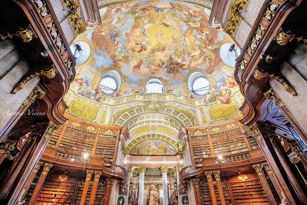 奧地利、維也納 | 壯觀絕美的世界最美圖書館之「奧地利國家圖書館」 Österreichische Nationalbibliothek (交通路線、攝影建議、圖多) @偽日本人May.食遊玩樂