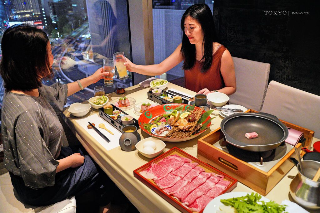 東京 | 銀座美食推薦「銀座 和食 肉割烹 宮下」| 在高樓觀景餐廳,遠眺著東京鐵塔、品嘗A5等級和牛料理 @偽日本人May.食遊玩樂