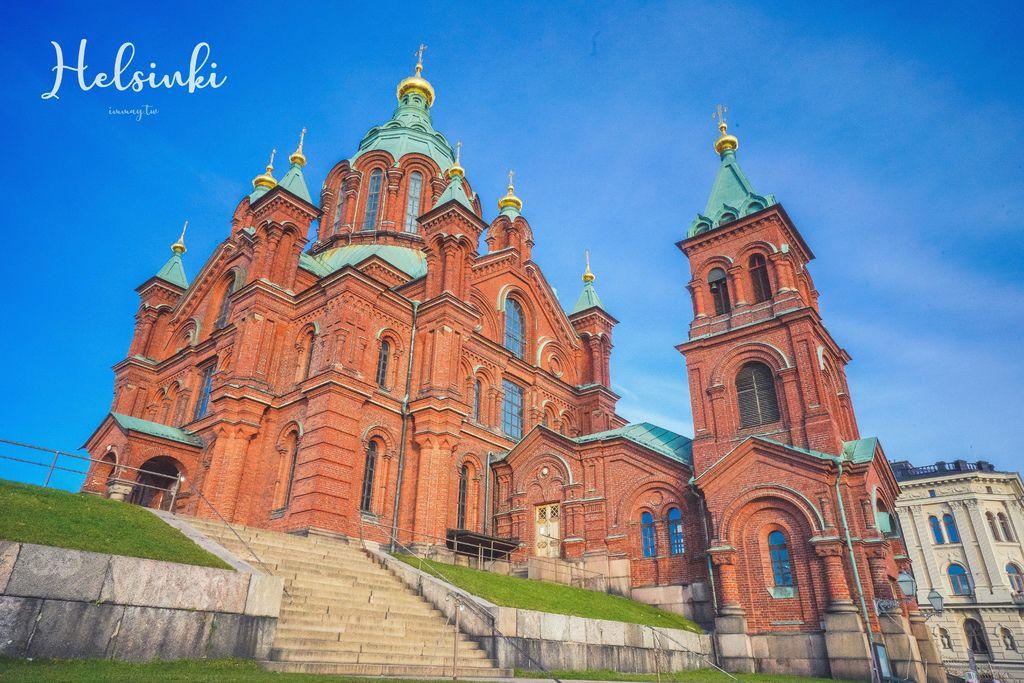 芬蘭、赫爾辛基 | 山坡上的俄羅斯東正教堂 : 烏斯佩斯基大教堂 ( Uspenskin katedraali ) |  紅教堂、北歐最大東正教堂、交通建議 @偽日本人May.食遊玩樂