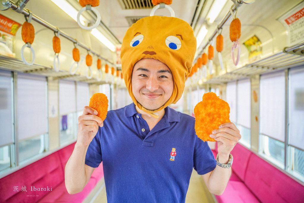 茨城旅行提案 | 搭乘可樂餅列車、到可樂餅的國度、尋找日本最好吃的可樂餅。關東鐵道龍崎線 (竜ヶ崎線) 可樂餅列車コロッケトレイン | 經營超過七十年、帶起可樂餅風潮的老舖「高橋肉店」 @偽日本人May.食遊玩樂