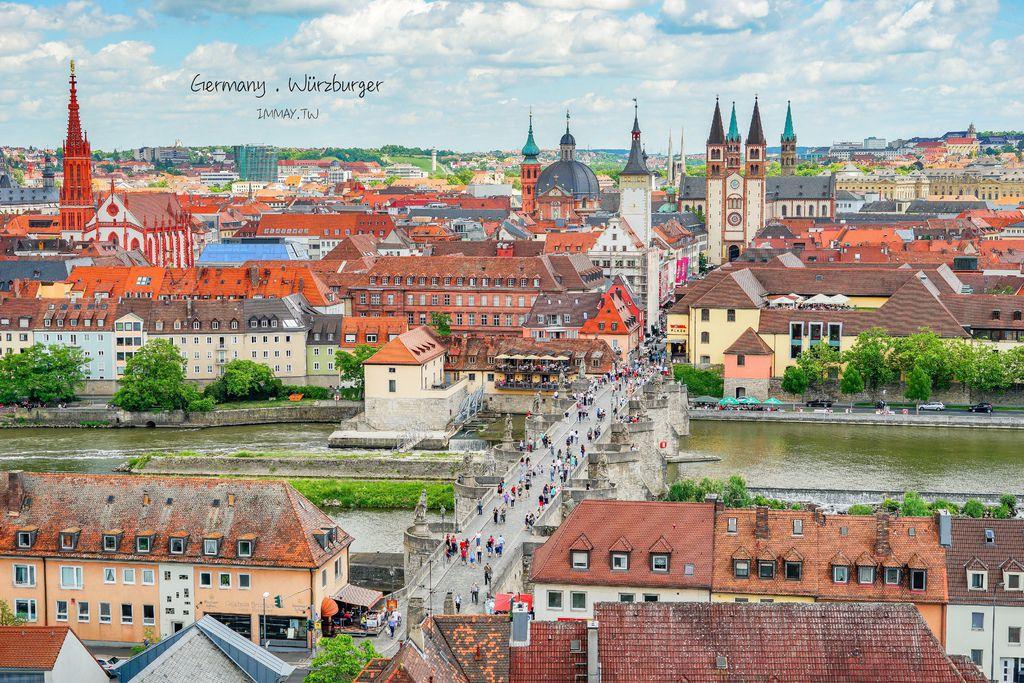 德國、烏茲堡 | 橫跨美茵河的浪漫石橋「舊美茵橋 Alte Mainbruecke ( 十二聖人橋 )」、舊城區的清晨散步攝影 ( 圖多 ) @偽日本人May.食遊玩樂