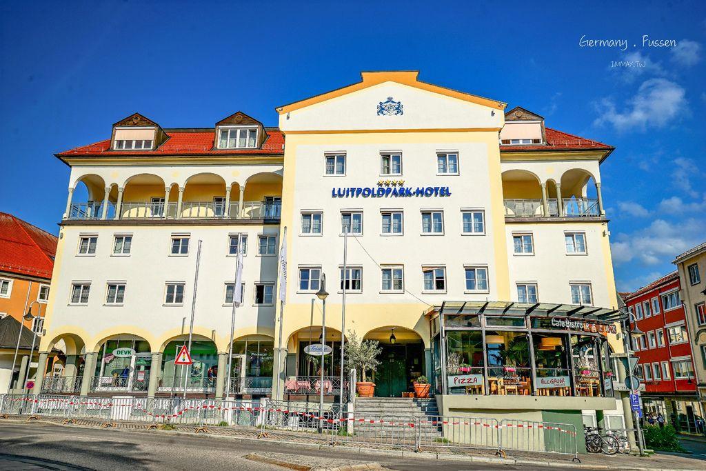 德國、南部 | 離新天鵝堡最近的小鎮,富森的住宿推薦「 路易波德公園酒店 (Luitpoldpark-Hotel) 」| 樓下超市採買便利、房間超大、早餐吧豐富、附停車場 @偽日本人May.食遊玩樂