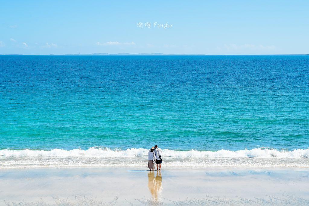 澎湖、馬公 | 純樸澎南漁村的靜謐灣岸、悠享在金黃細沙踏浪漫步「嵵裡沙灘」| 拍攝天空之鏡的攝影技巧、建議前往拍攝時刻 @偽日本人May.食遊玩樂